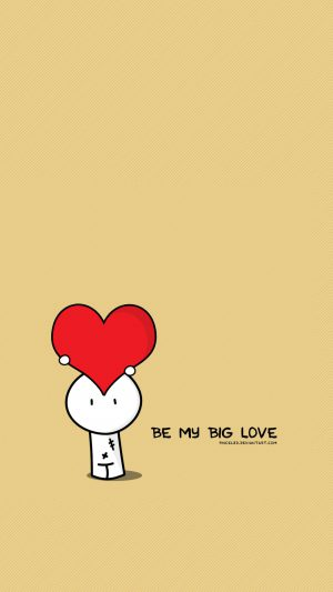 Be My Big Love Valentines Illustration iPhone 8 wallpaper