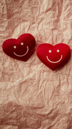 Cute Smile Love Heart Couple Fold Paper iPhone 8 wallpaper