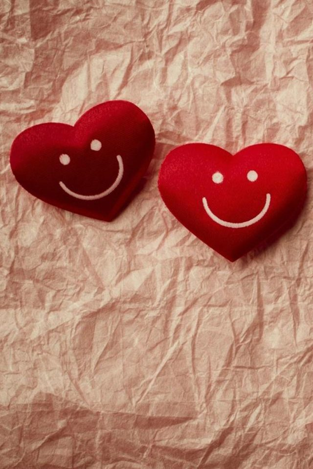 Cute Smile Love Heart Couple Fold Paper iPhone wallpaper