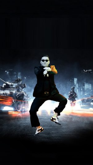 Funny Gangnam Style iPhone 8 wallpaper
