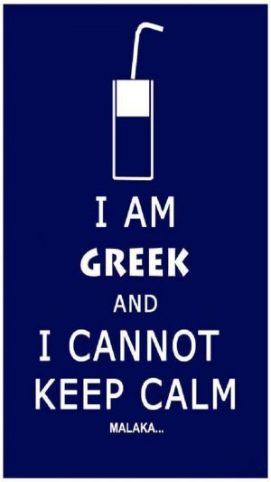 I Am Greek iPhone 8 wallpaper