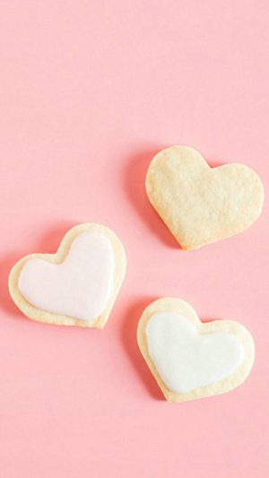Love Hearts Cookies iPhone 8 wallpaper