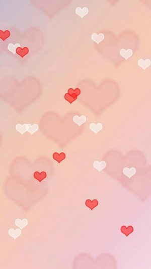 Love hearts iPhone 8 wallpaper