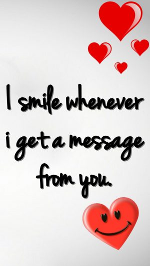 Smile Love Message iPhone 8 wallpaper