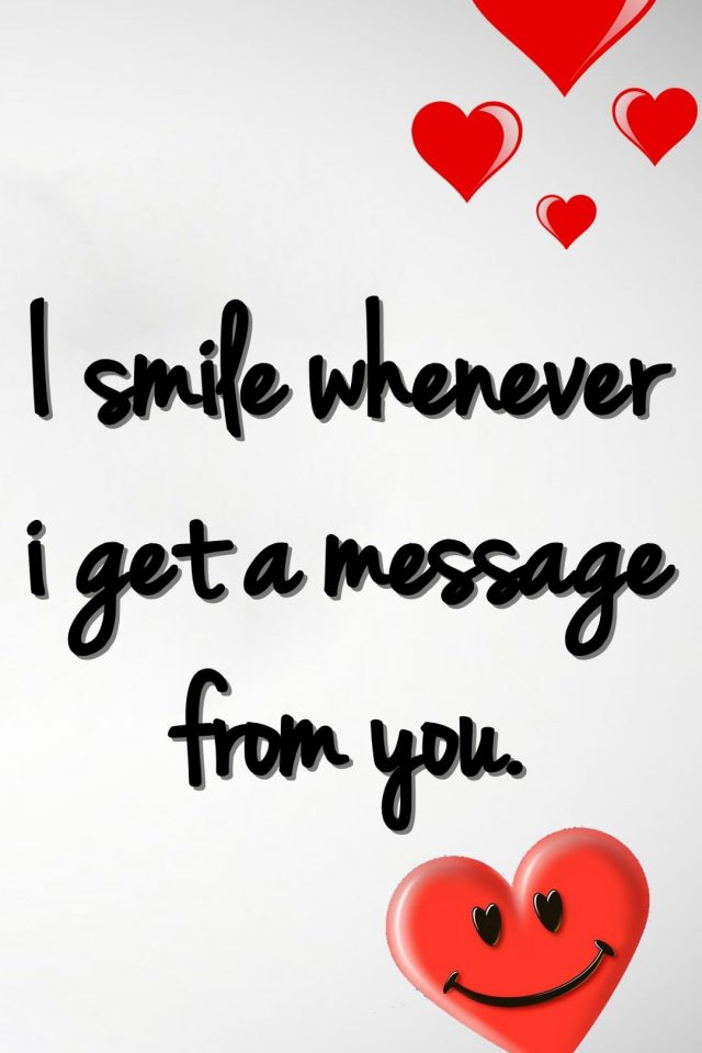 Smile Love Message iPhone wallpaper