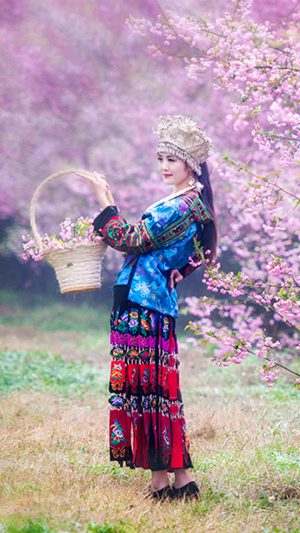 Chinese Ethnic Culture girl 1 iPhone 8 wallpaper