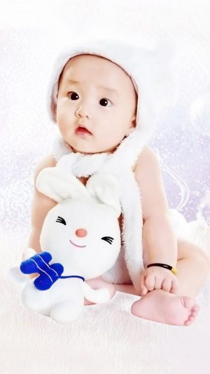 Cute Baby Asian iPhone 8 wallpaper