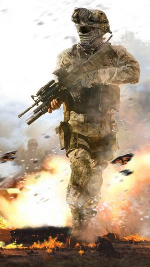 Call of Duty Soldier iPhone 8 wallpaper