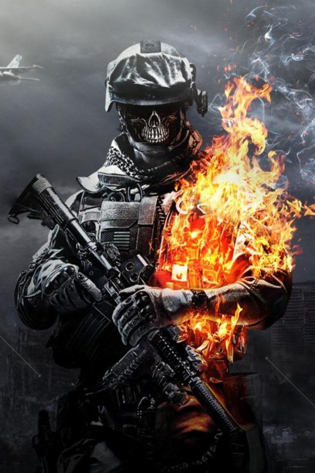 Duty Ghosts Skull iPhone 8 wallpaper