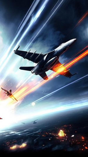 Battlefield Planes Fire iPhone 8 wallpaper