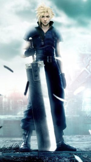 Final Fantasy 7 - Cloud Strife iPhone 8 wallpaper