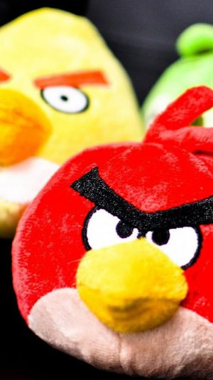 Real Angry Bird Toy iPhone 8 wallpaper
