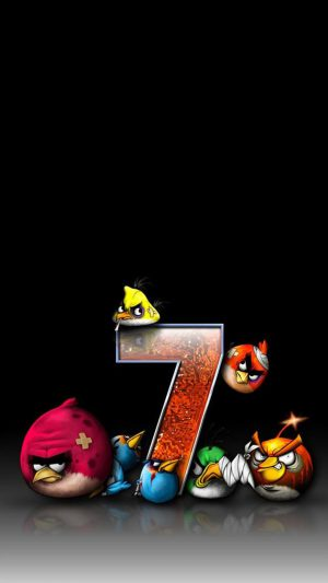 Angry Birds 7 Funny iPhone 8 wallpaper