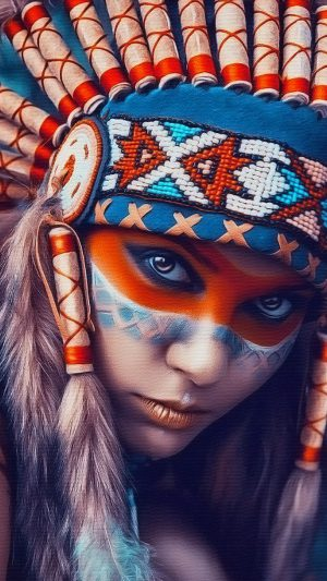 Tribal art beauty   iPhone 8 wallpaper