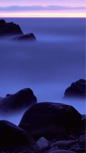 Misty sea iPhone 8 wallpaper