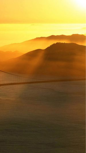 Bridge Sunrays iPhone 8 wallpaper