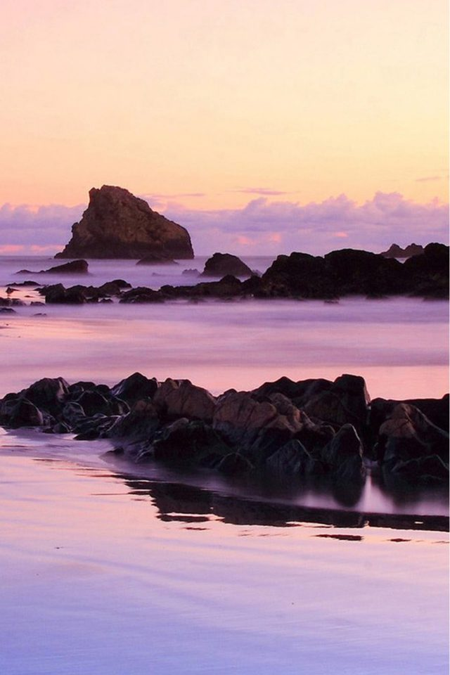 Beach Purple iPhone wallpaper