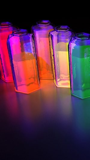 Colorful water-bottles iPhone 8 wallpaper
