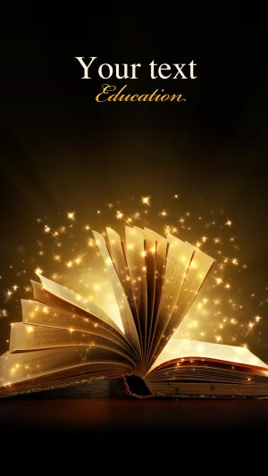 Creative magic books iPhone 8 wallpaper