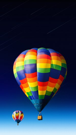 nice-colored-hot-air-balloon iPhone 8 wallpaper