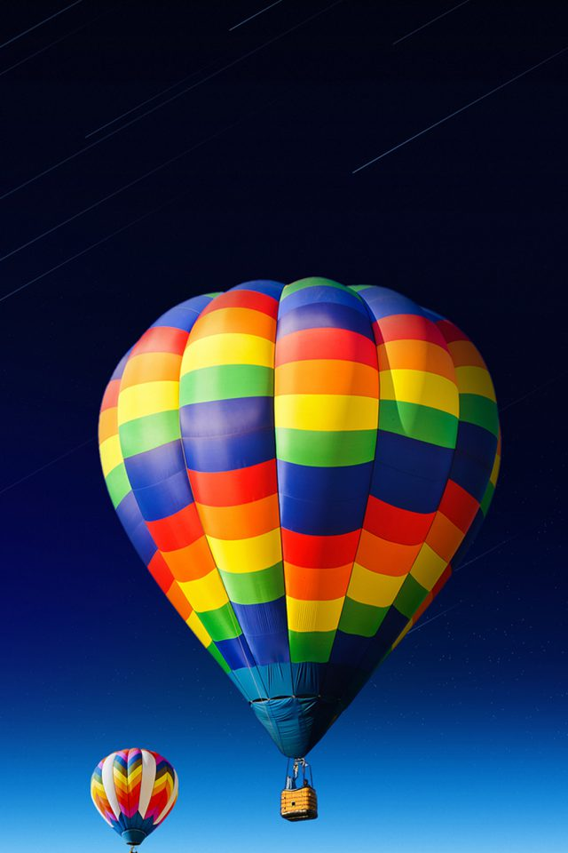 nice-colored-hot-air-balloon iPhone wallpaper
