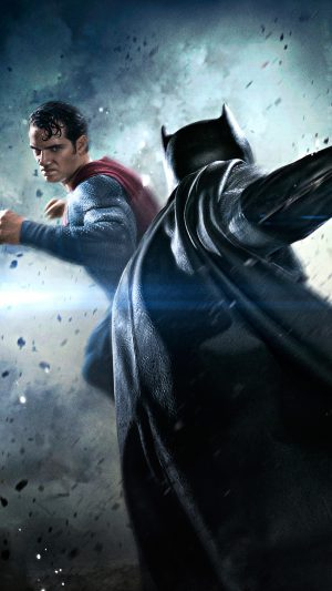 Batman VS Superman Movie Fight iPhone 8 wallpaper