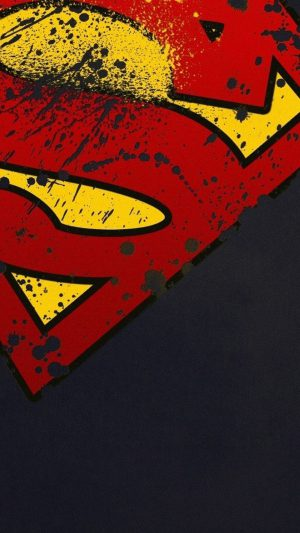 Superman Logo HD iPhone 8 wallpaper