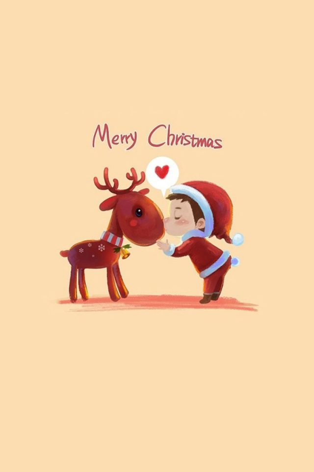 Cute Merry Christmas Iphone 8 Wallpaper Iphone8wallpapers Com
