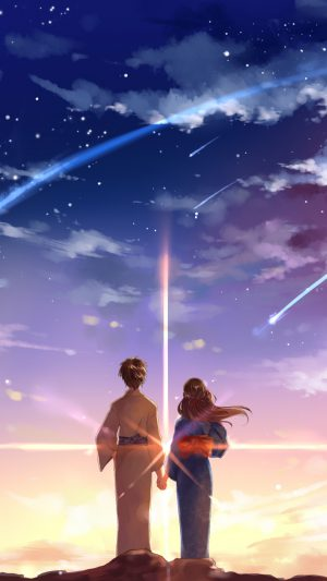 Kimi No Na Wa Cute iPhone 8 wallpaper