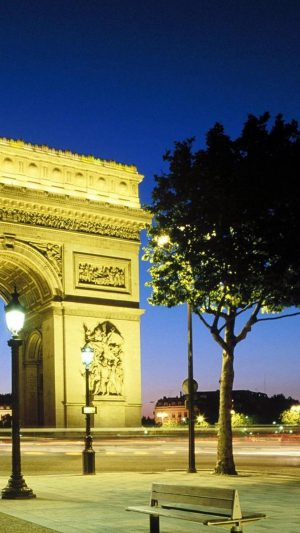 Paris Arc De Triomphe iPhone 8 wallpaper