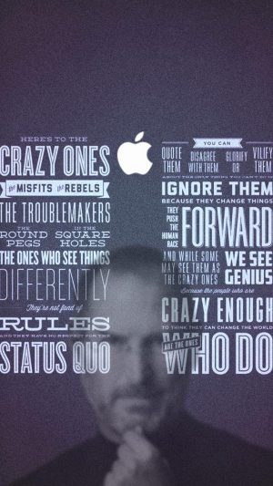 Steve Jobs Quotes iPhone 8 wallpaper