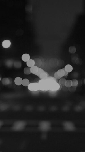 8th Avenue Chelsea Manhattan Dark Newyork Bokeh City iPhone 8 wallpaper