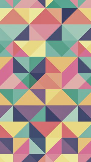Abstract Polygon Art Pattern Rainbow iPhone 8 wallpaper