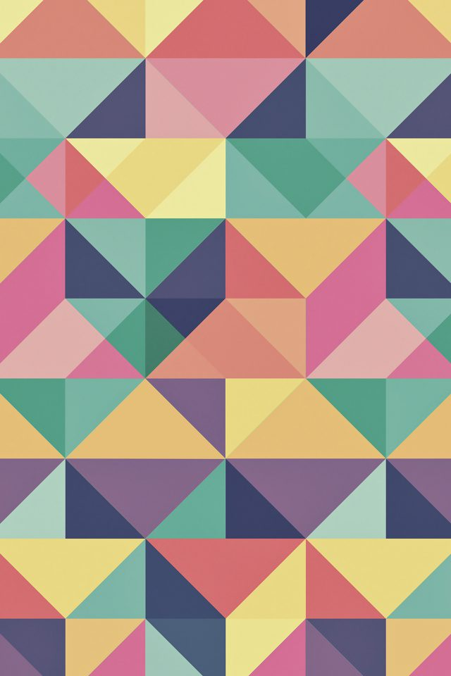 Abstract Polygon Art Pattern Rainbow iPhone wallpaper