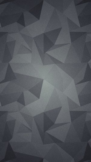 Abstract Polygon Dark Bw Pattern iPhone 8 wallpaper