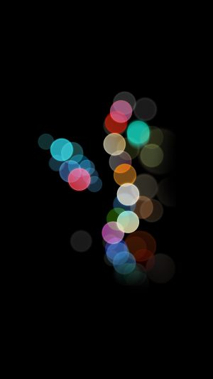 Apple Bokeh IPhone7 Dark Art Illustration iPhone 8 wallpaper