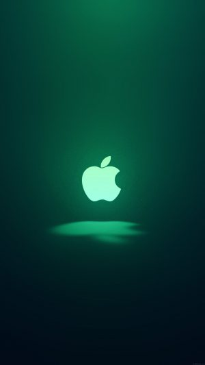 Apple Logo Love Mania Green iPhone 8 wallpaper