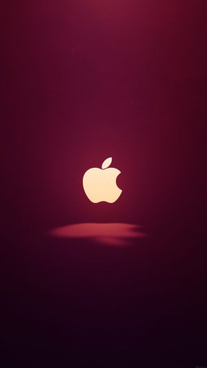 Apple Logo Love Mania Wine Red iPhone 8 wallpaper