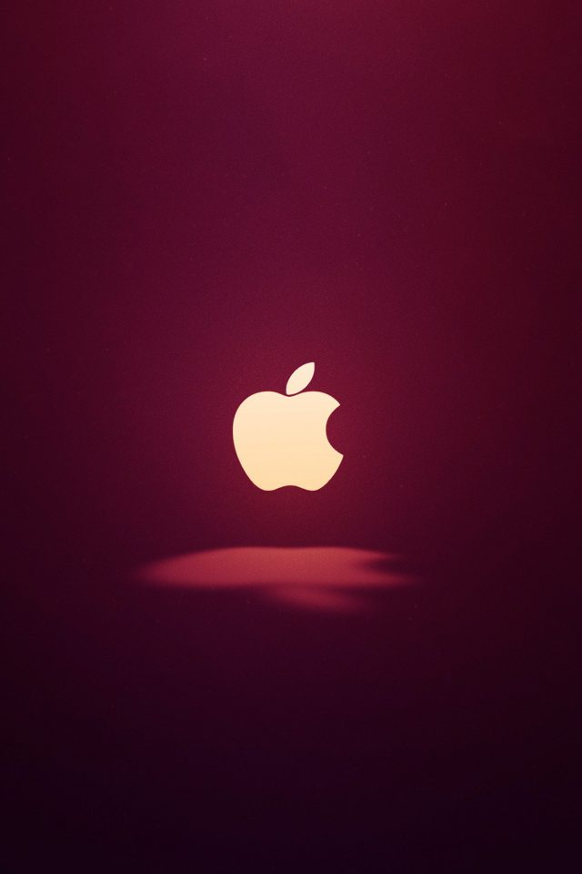 Apple Logo Love Mania Wine Red iPhone wallpaper