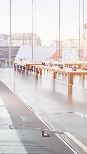 Apple Shop Store Interior City iPhone 8 wallpaper