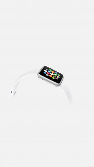 Apple Watch White Sports Art iPhone 8 wallpaper