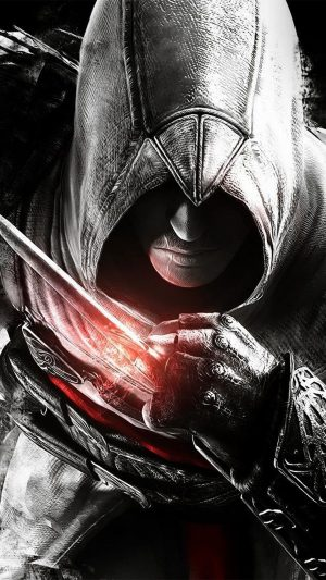 Assassins Creed Dark Game Hero Illustration Art iPhone 8 wallpaper