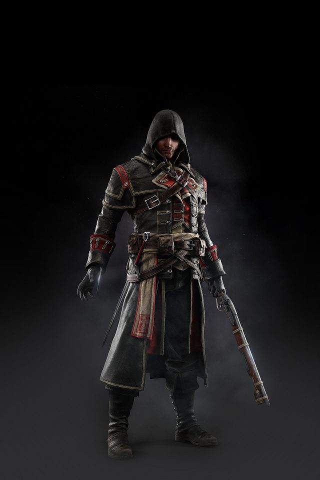 Assassins Creed Rogue Game Art Dark Shay Hood iPhone wallpaper