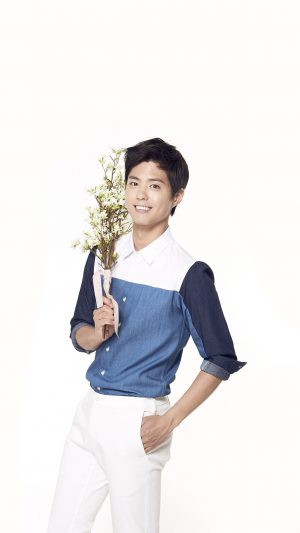 Bogum Kpop Boy Flower Smile Asian iPhone 8 wallpaper
