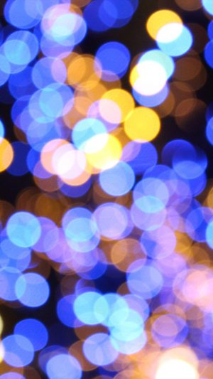 Bokeh Art Light Blue Pattern iPhone 8 wallpaper