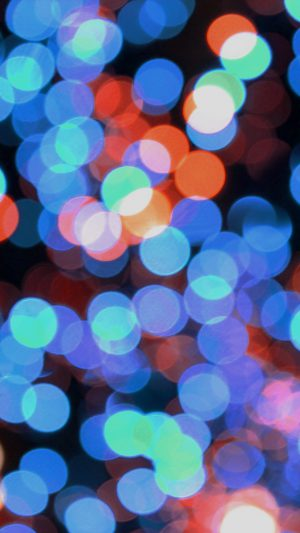 Bokeh Art Light Blue Red Pattern iPhone 8 wallpaper