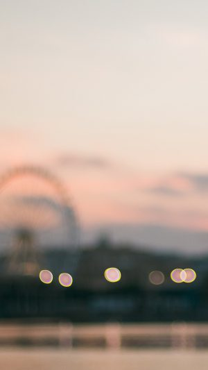 Bokeh Circle Sunset Afternoon London iPhone 8 wallpaper