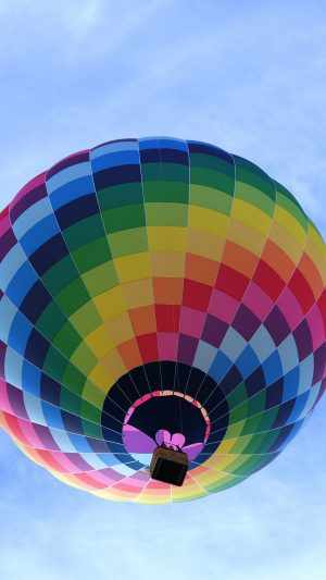 Color Air Balloon Sky Fun iPhone 8 wallpaper