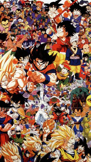 Dragonball Full Art Illust Game Anime iPhone 8 wallpaper