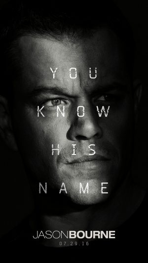 Jason Bourne Film Poster Art Illustration iPhone 8 wallpaper